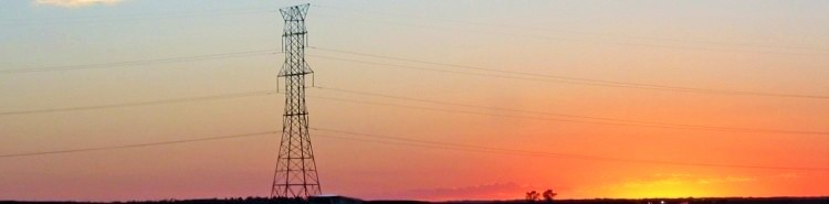 Powerline at Sunset